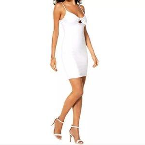 Guess White Spaghetti Straps Dress